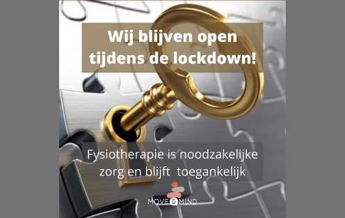 Move & Mind kinderfysiotherapie Open tijdens lockdown