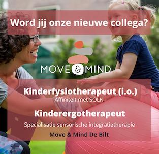 Vacature kinderfysiotherapeut kinderergotherapeut Move & Mind de Bilt