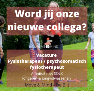Vacature fysiotherapeut / psychosomatisch fysiotherapeut Move & Mind de Bilt